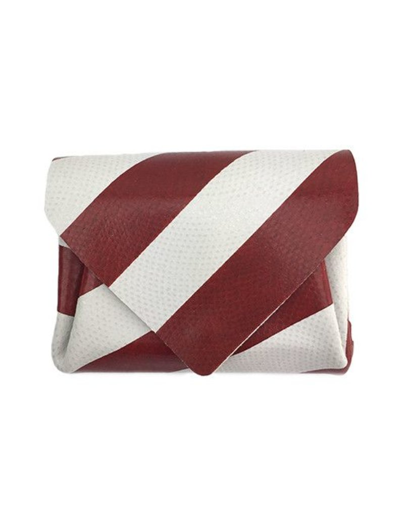 Carmine Carmine Mini Stripe Wallet: Red