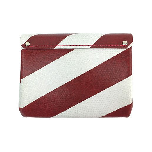 Carmine Carmine Mini Stripe Wallet: Red