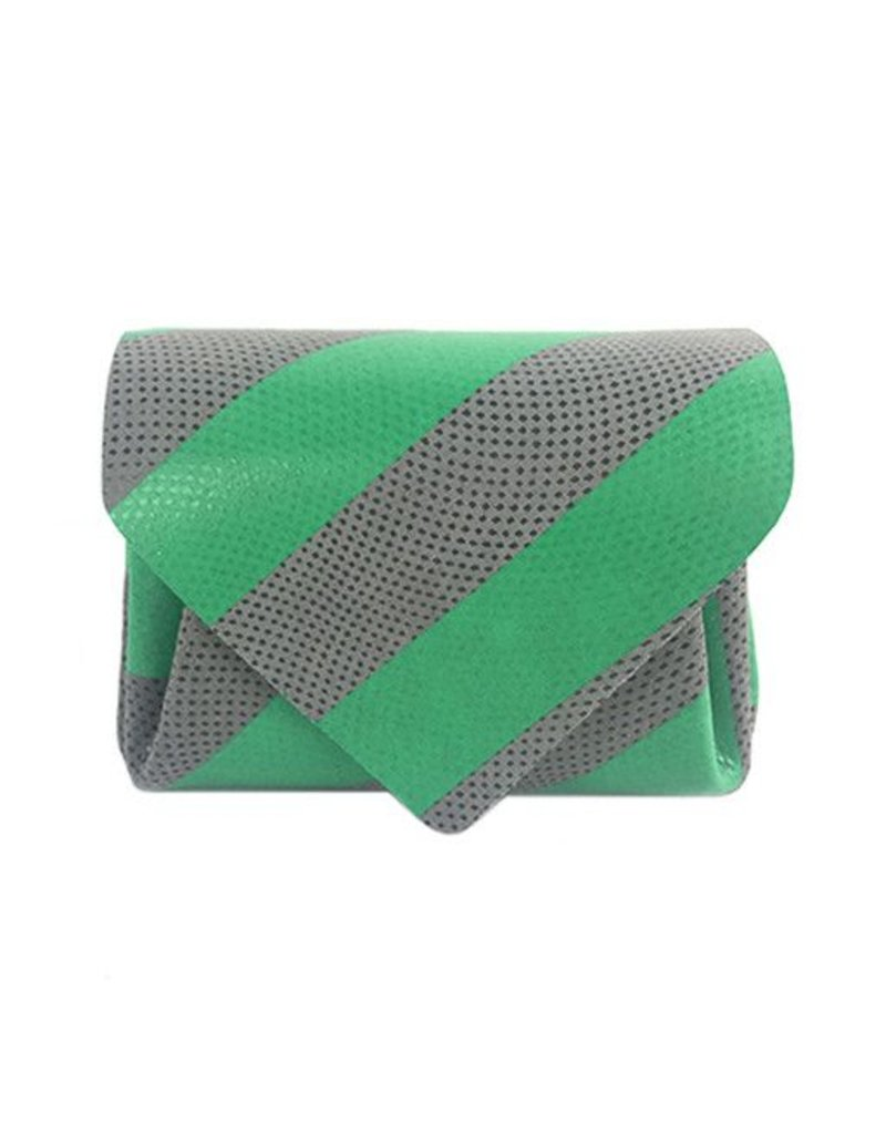 Carmine Carmine Mini Stripe Wallet: Green