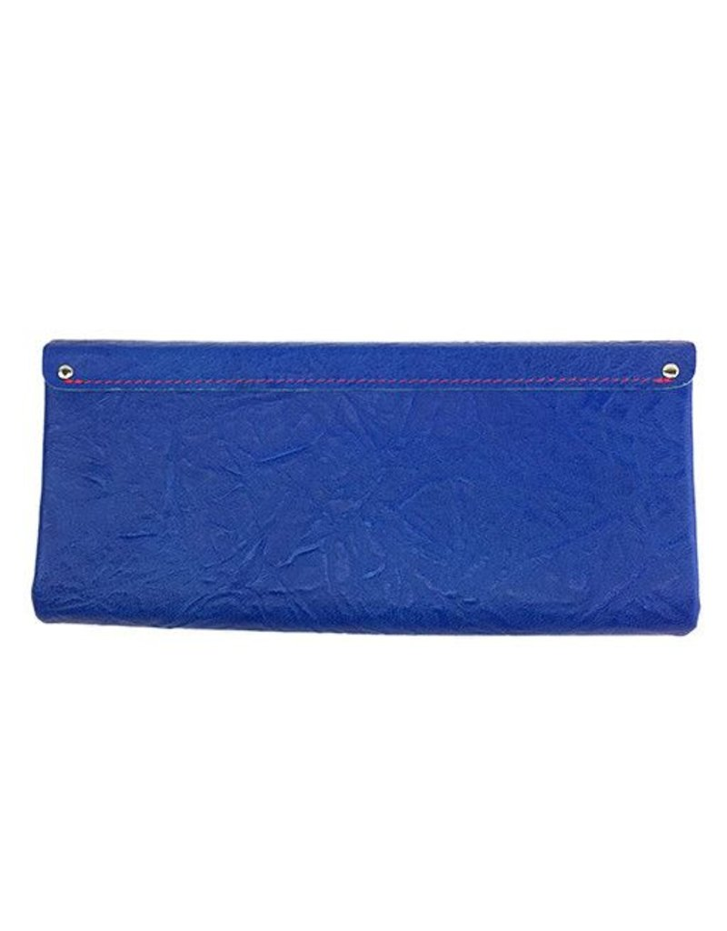 Carmine Carmine Long Shibori Wallet: Blue
