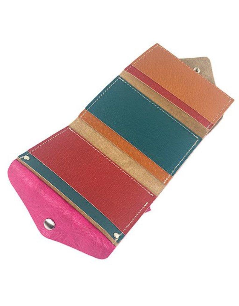 Carmine Carmine Compact Shibori Wallet: Pink