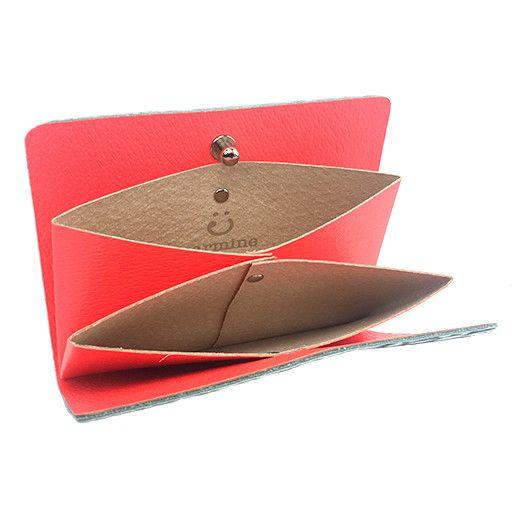 Carmine Carmine Lotus Card Case: Rhino