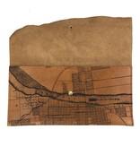 Tactile Craftworks Tactile Craftworks Little Rock Map Clutch: Light Brown