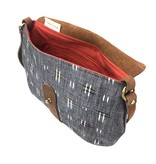 Shelter Shelter Taplin Purse: Gray Chambray