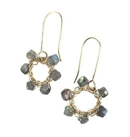 Cottler Fox Cottler Fox Labradorite Wheel Earrings