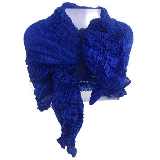 Nellie Rose Textiles Nellie Rose Silk Scarf: Bomaki Square, Cobalt