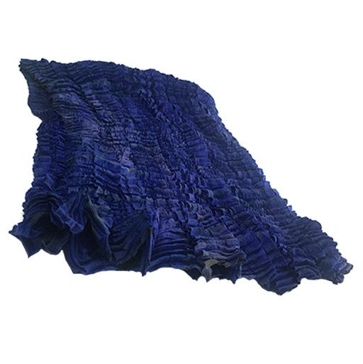 Nellie Rose Textiles Nellie Rose Silk Scarf: Chrysalis, Sapphire