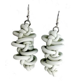 NEO Design Earrings #10: White