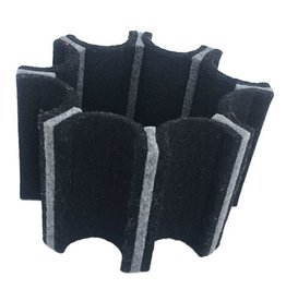 IS Felt Gear Cuff: Large, Black / Gray