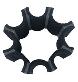 IS Felt IS Felt Gear Cuff: Large, Black / Gray