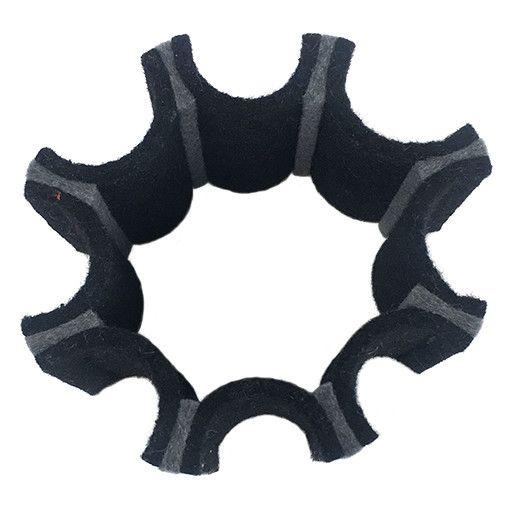 IS Felt IS Felt Gear Cuff: Large, Black / Gray
