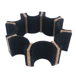 IS Felt Gear Cuff: Small, Black / Brown