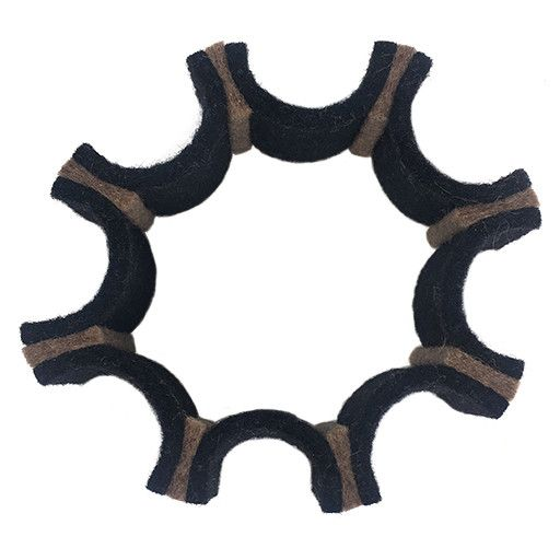 IS Felt IS Felt Gear Cuff: Small, Black / Brown