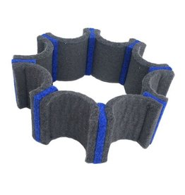 IS Felt Gear Cuff: Small, Gray / Blue