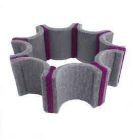 IS Felt Gear Cuff: Small, Gray / Fuchsia