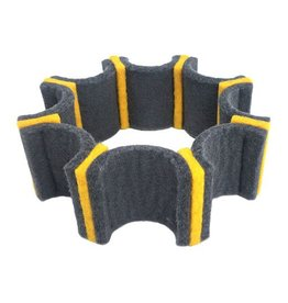 IS Felt Gear Cuff: Small, Gray / Yellow