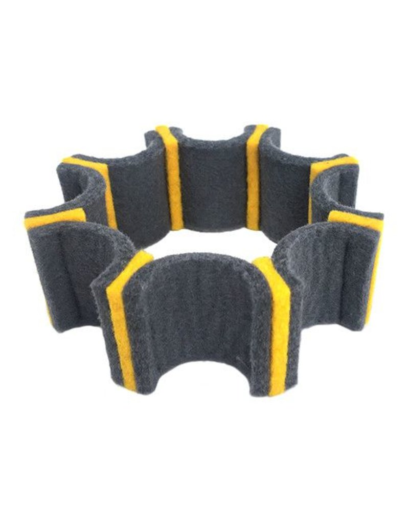 IS Felt IS Felt Gear Cuff: Small, Gray / Yellow