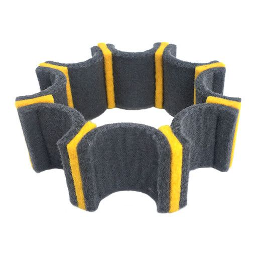 IS Felt IS Felt Gear Cuff: Small, Gray / Yellow