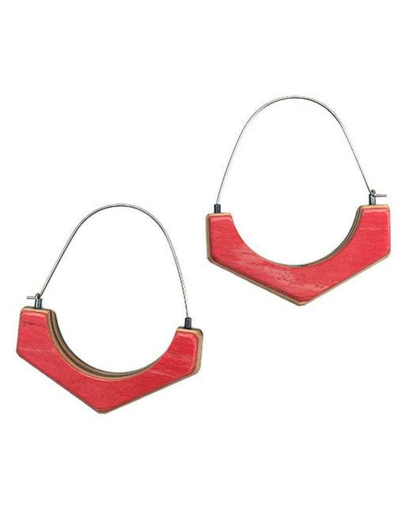 Tara Locklear Tara Locklear Arc Hoops: Gray / Red