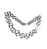 """Ludviks Ludviks 20"""" Necklace With Silver Cube"""