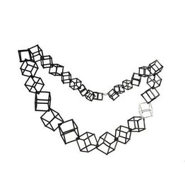 """Ludvicks Ludvicks 20"""" Necklace With Silver Cube"""
