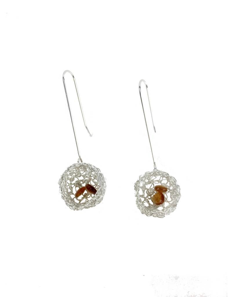 Cottler Fox Cottler Fox Silver & Citrine Basket Earrings