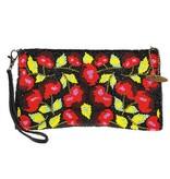 Mary Frances Mary Frances Wristlet: Cherry Harvest