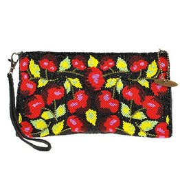 Mary Frances Wristlet: Cherry Harvest