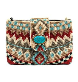 Mary Frances Mini Handbag: Turquoise Power