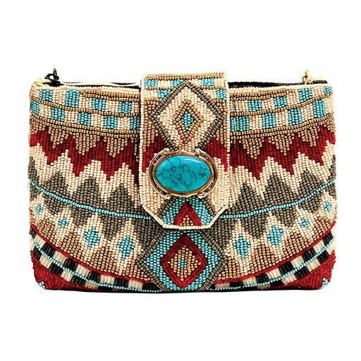 Mary Frances Mary Frances Mini Handbag: Turquoise Power