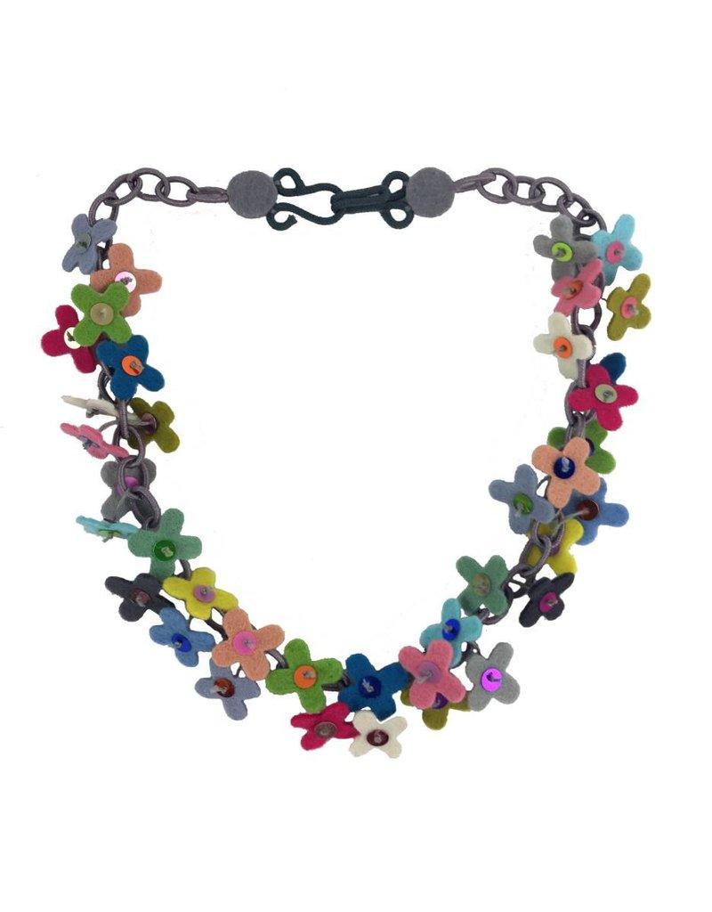 Lynsey Walters Lynsey Walters Flower Confetti Necklace: Multi