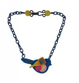 Lynsey Walters Lynsey Walters Pigeon Necklace: Navy