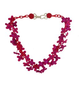 Lynsey Walters Lynsey Walters Flower Confetti Necklace: Pink