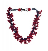 Lynsey Walters Lynsey Walters Flower Confetti Necklace: Red & Navy