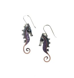 Chickenscratch Earrings: Seahorses