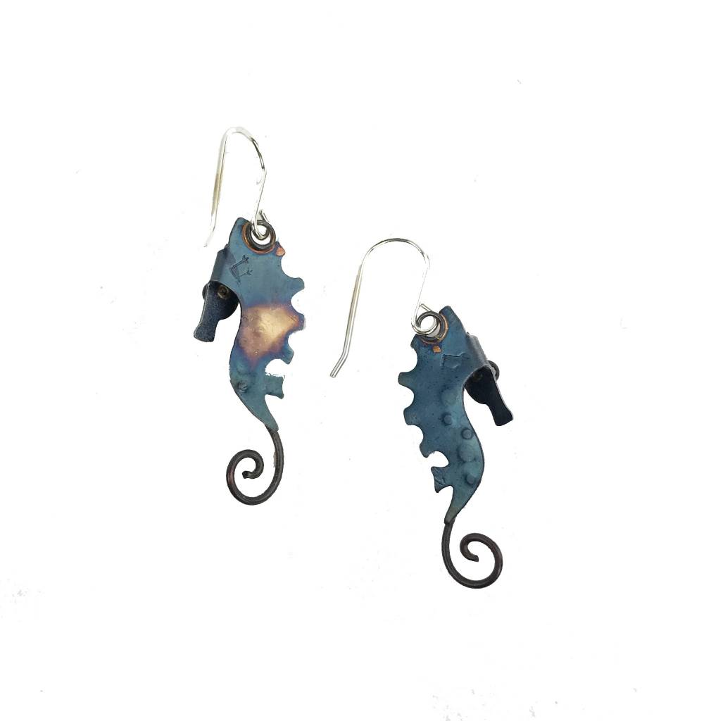 Chickenscratch Chickenscratch Earrings: Seahorses