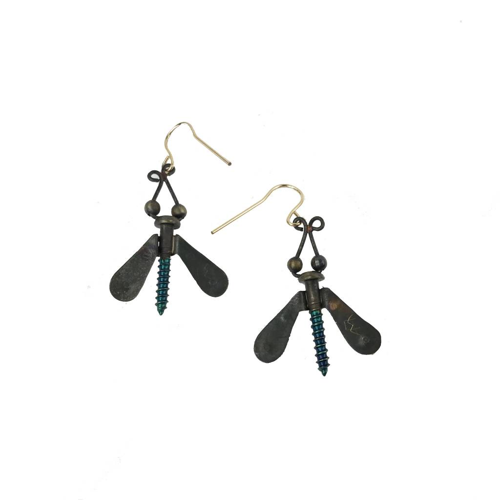 Chickenscratch Chickenscratch Earrings: Winged Nuts