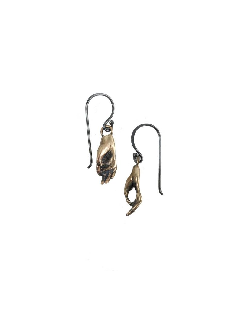 Symbology Symbology Bronze Hand Earrings