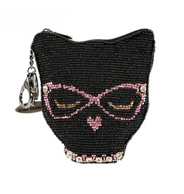 Mary Frances Coin Purse: Cool Cat