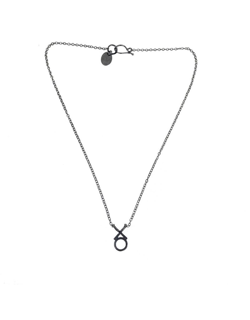 Symbology Symbology XO Necklace: Silver