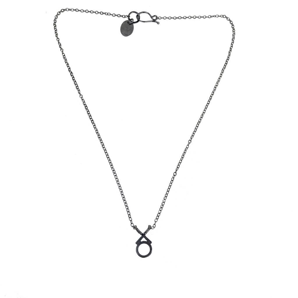 Symbology Symbology XO Necklace: Silver