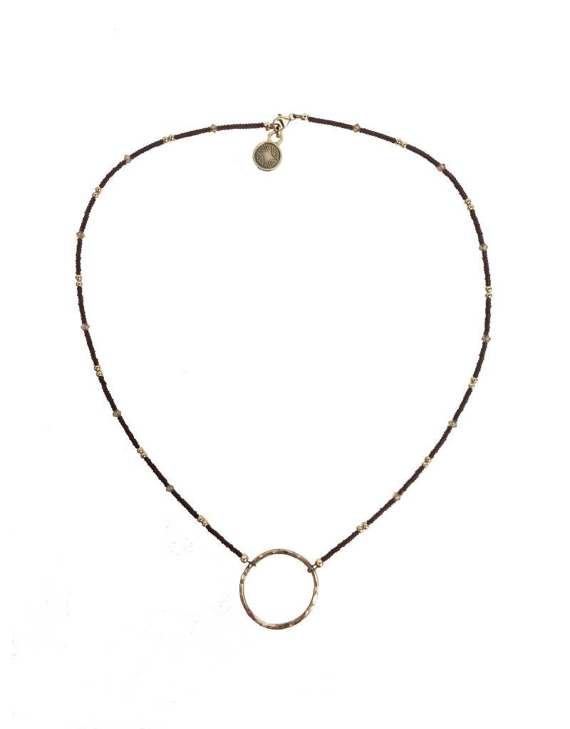 Illuminated Me Illuminated Me Necklace: Hope Hoop, Brown