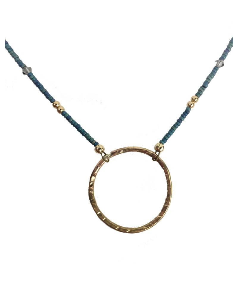 Illuminated Me Illuminated Me Necklace: Hope Hoop, Turquoise