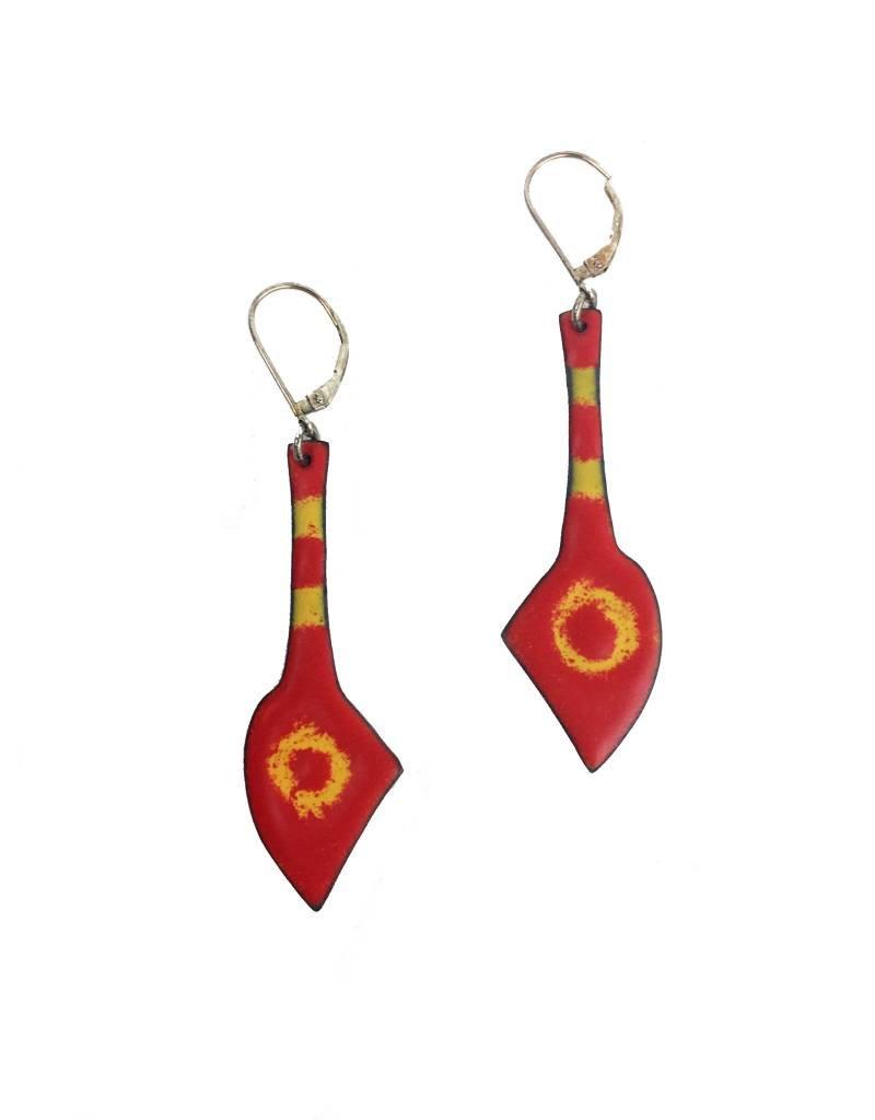 Julie Shaw Julie Shaw Spear Earrings: Red/Orange