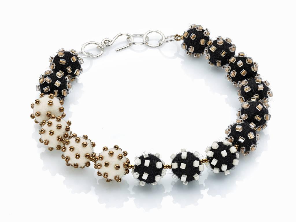 Linda May Studio Linda May Small Felt Necklace: Black/White