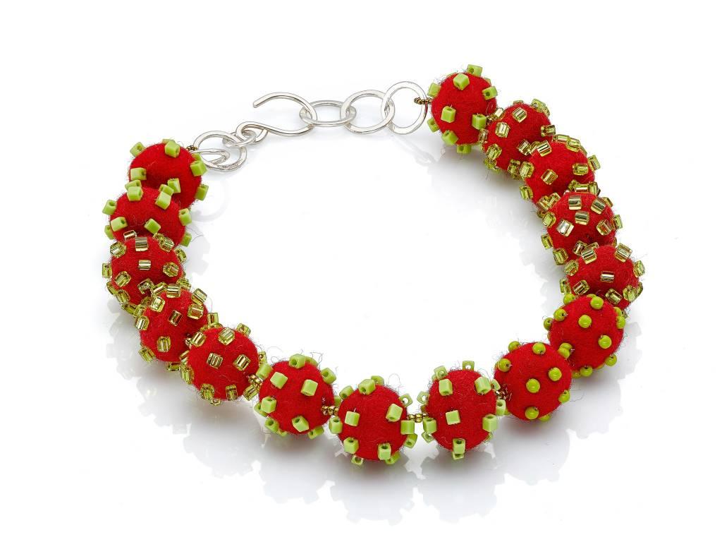 Linda May Studio Linda May Small Felt Necklace: Red