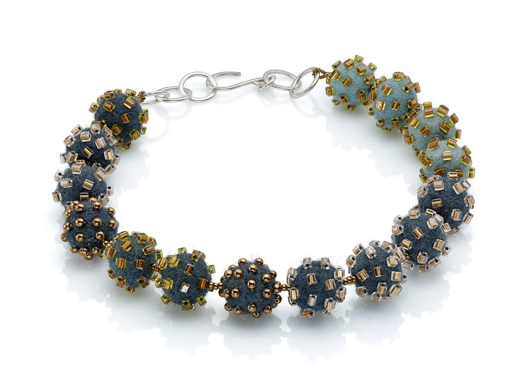 Linda May Studio Linda May Small Felt Necklace: Greys