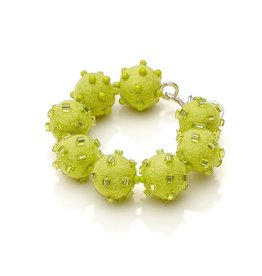Linda May Studio Fun Felt Bracelet: Apple Green