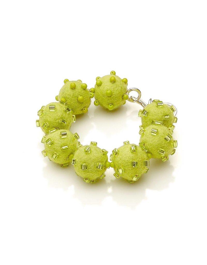 Linda May Studio Linda May Fun Felt Bracelet: Apple Green