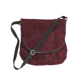 Smateria Courier Bag: Bordeaux